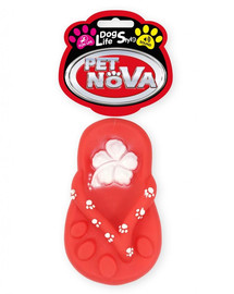 PET NOVA DOG LIFE STYLE Hračka v tvare Žabky, 15 cm, červená