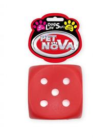 PET NOVA DOG LIFE STYLE Hádzacia kocka pre psa 6 cm, červená