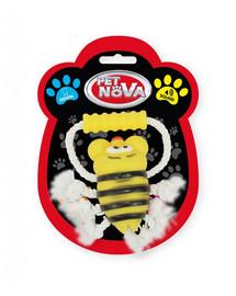 PET NOVA DOG LIFE STYLE  Hračka Včela na šnúrke s držadlom 26cm, žltá