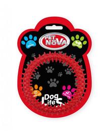 PET NOVA DOG LIFE STYLE Dental Ringo 12,5 cm, červená, mätová vôňa