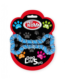 PET NOVA DOG LIFE STYLE psie lano, kosť 20 cm, modrá, vôňa mäty