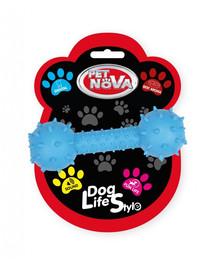 PET NOVA DOG LIFE STYLE hračka so zvončekom 14cm, modrá, vôňa hovädzieho mäsa