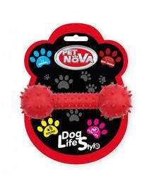PET NOVA DOG LIFE STYLE Hračka so zvončekom 14cm, červená, hovädzia vôňa
