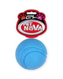 PET NOVA DOG LIFE STYLE Tenisová loptička, 5 cm, modrá, vôňa hovädzieho mäsa