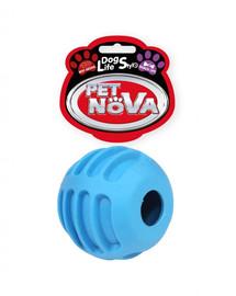 PET NOVA DOG LIFE STYLE Loptička s pamlskami, 6 cm, modrá, vôňa hovädzieho mäsa
