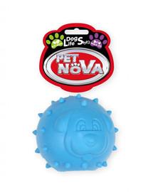 PET NOVA DOG LIFE STYLE Loptička s pamlskami, 6,5 cm, modrá, mätová vôňa