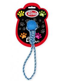 PET NOVA DOG LIFE STYLE Lopta  s lanom, 40 cm, modrá,  mätová vôňa