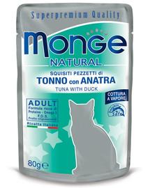 MONGE Tuniak a kačica v želé 80 g