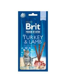 BRIT Premium by Nature Cat Sticks Tyčinky pre mačky s morčacím a jahňacím mäsom 15 g