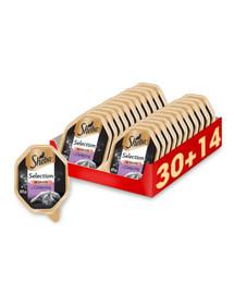 SHEBA Selection in Sauce s teľacím mäsom 44 x 85 g (30 + 14 zdarma)