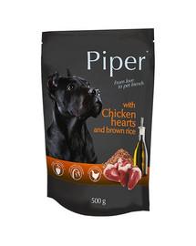 DOLINA NOTECI PIPER s kuracím srdcom a ryžou 500 g pre dospelých psov