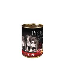 DOLINA NOTECI PIPER Junior pre šteňatá s hovädzím srdcom a mrkvou  400 g