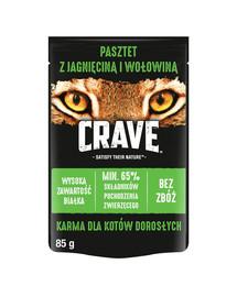 CRAVE – Paštéta z jahňacieho a hovädzieho mäsa bez obilnín 24 x 85 g