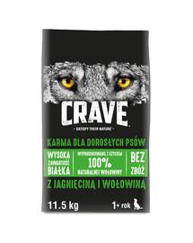 CRAVE bezzrnné granule s jahňacím a hovädzím mäsom 11,5 kg