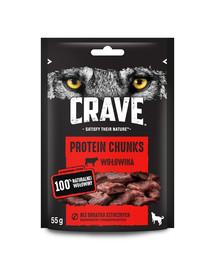 CRAVE Bezzrnná pochúťka pre psov s hovädzieho  mäsa 6 x 55g