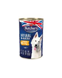 BUTCHER'S Natural&Healthy Dog kuracie s ryžou Paté 1200 g