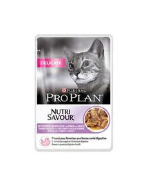 PURINA PRO PLAN Delicate morčacie mäso 26 x 85 g pre mačky s citlivým tráviacim systémom