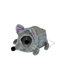 TRIXIE Plyšová myš Lukas škrabadlom a hračkou 35 x 33 x 65 cm šedé