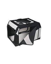 TRIXIE Transportný box vario nylon čierno-šedý 76 × 48 × 51 cm