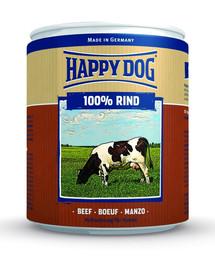 HAPPY DOG Konzerva pre psa - hovädzie (hovädzie čisté ) 800g