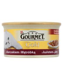 GOURMET Gold Kura a pečeň v omáčke 85g