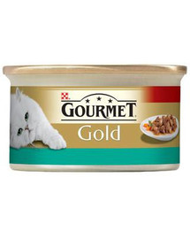 GOURMET Gold losos a kuracie v omáčke 85 g