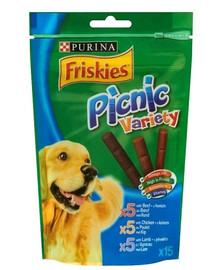 FRISKIES Picnic Variety o smaku wołowiny, kurczaka i jagnięciny 126g