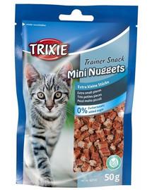 TRIXIE Training snacks Mini Nuggets tuniakom, kuracím mäsom a catnipom 50 g