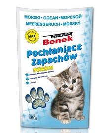 Benek Sanitizer / Pohlcovač zápachov tyrkysový 450 g