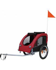 TRIXIE Vozík pre psa za bicykel 45×48×74 cm červeno-čierny