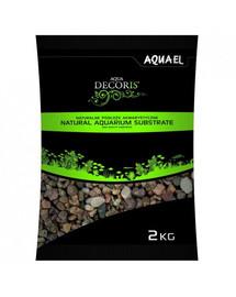AQUAEL štrk prírodný  viacfarebný 1,4-2 mm 2kg