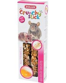 ZOLUX Crunchy Stick Potkan / Myš ovos a vajcia 115 g
