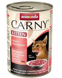 ANIMONDA Carny Kitten hovädzina a morčacie srdiečka 400g