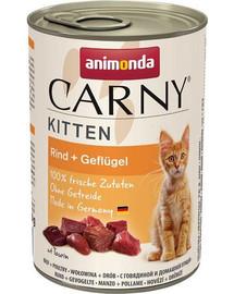 ANIMONDA Carny Kitten hovädzie koktejl 400g