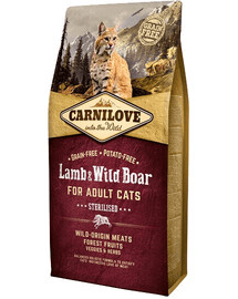 CARNILOVE Cat Grain Free Lamb & Wild Boar Adult Sterilised 2kg