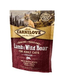 CARNILOVE Cat Grain Free Lamb & Wild Boar Adult Sterilised 400g