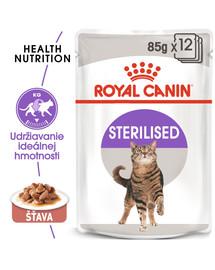 ROYAL CANIN Sterilised Gravy 12x85g kapsička pre kastrované mačky v šťave
