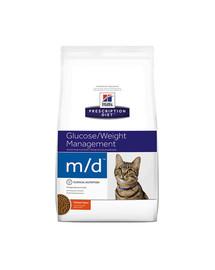 HILL'S Prescription Diet m / d Feline 5 kg