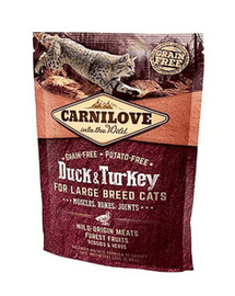 CARNILOVE Cat Grain Free Duck&Turkey LB Cat Muscles, Bones, Joints 400g