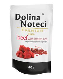 DOLINA NOTECI Premium Pure hovädzie s ryžou 500g