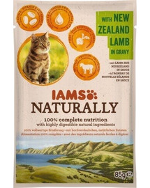 IAMS Naturally Adult Cat with New Zealand Lamb in Gravy 85 g