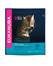 EUKANUBA Cat Senior All Breeds Top Condition Chicken & Liver 400 g