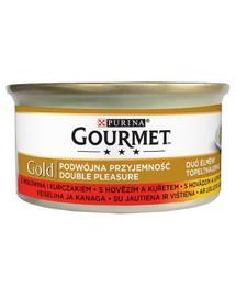 GOURMET Gold hovädzie a kuracie mäso 85 g