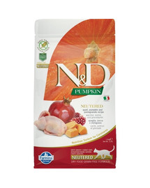 N&D GF Pumpkin CAT NEUTERED Quail & Pomegranate 1,5 kg