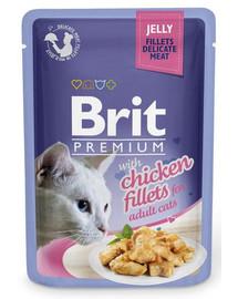 BRIT Premium Cat  Fillets in Jelly Chicken 85g