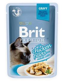BRIT Premium Cat Fillets in Gravy Chicken 85g