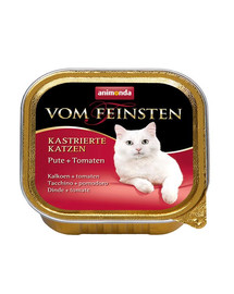 ANIMONDA kapsa Vom Feinsten Cat Castrate Krůtí/Pomidor 100 g