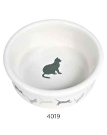 TRIXIE Miska keramická s dekorom pre mačky  250 ml / 11 Cm