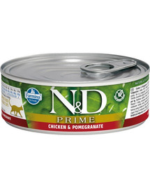 N&D Cat prime chicken & pomegranate 80 g