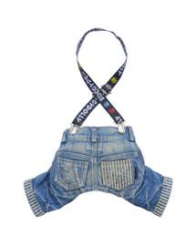 DOGGY DOLLY Nohavice s trakami, jeans, L 61-63 cm/89-91 cm